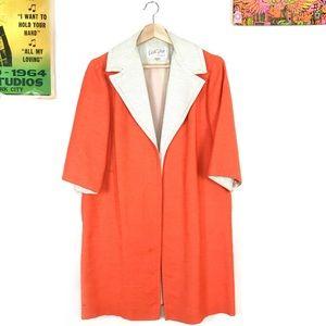 Vintage 60s Edith Flagg color block blazer jacket